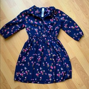 Cherokee Blue flowered dress